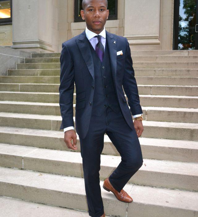 Navy 3 piece + brown shoes | Navy 3 piece suit, Navy su