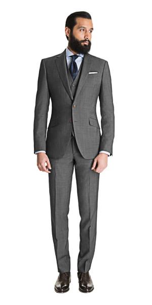 Cool Gray 3 Piece Suit - Mens Suits | Black Lap
