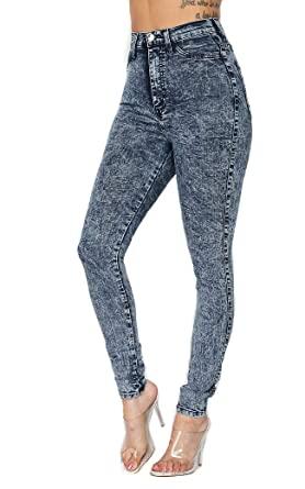 SOHO GLAM High Waisted Acid Wash Jeans at Amazon Women's Jeans sto