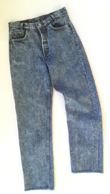 Vtg USA Levis 701 Acid Wash Jeans 29x32 Act 28x29 Womens High Rise .