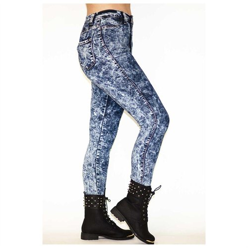 Soho Girl Perfect Fit High Waisted Acid Wash Jeans, $39 | buy.com .