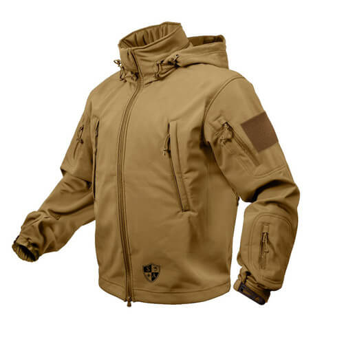 Coyote Brown Tactical Jacket | All Weather Winter Coat - SA Te
