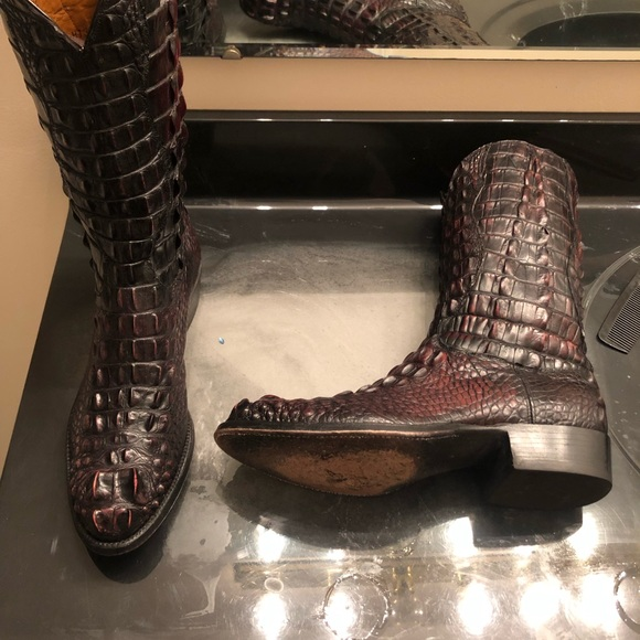 Lucchese Shoes | L1000 Hornback American Alligator Boots | Poshma