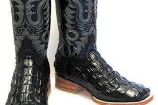 Amazon.com | Hand Made Men's Crocodile Alligator Back Cut Leather .
