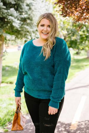 Got It Made Angora Sweater In Jade – For She Is Beautif