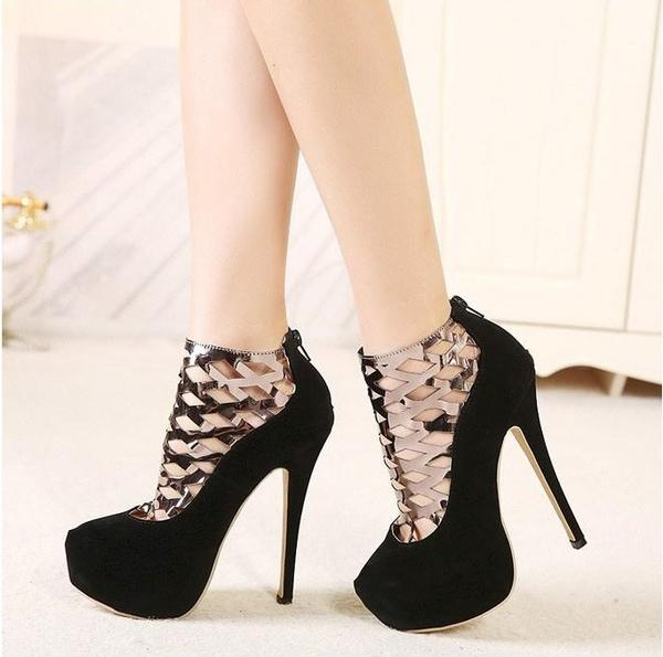 """Ankle Boots New Style Women Pumps Femininas High Heels Shoes """"Trendy"""