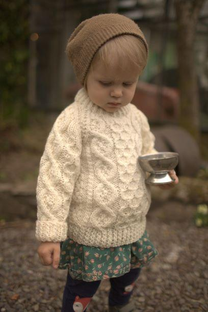 Kids Handknit Aran Sweater – Campbell's of Arda