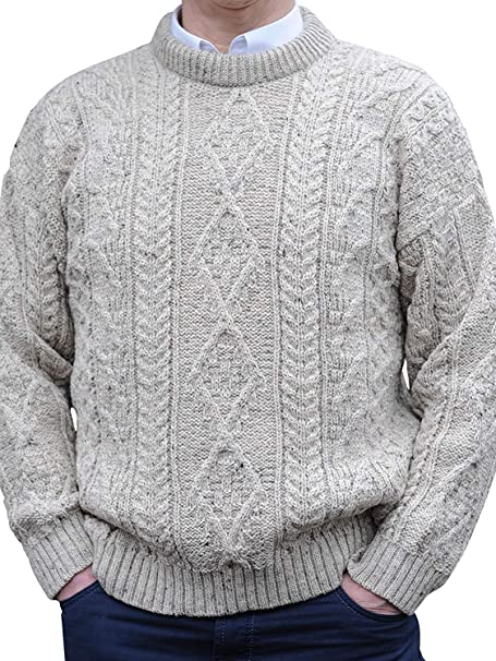 Murphy of Ireland Regular Weight Irish Aran Sweaters at Amazon .