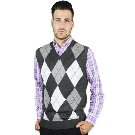 Blue Ocean Clothing - Men's Argyle Sweater Vest - Walmart.com .