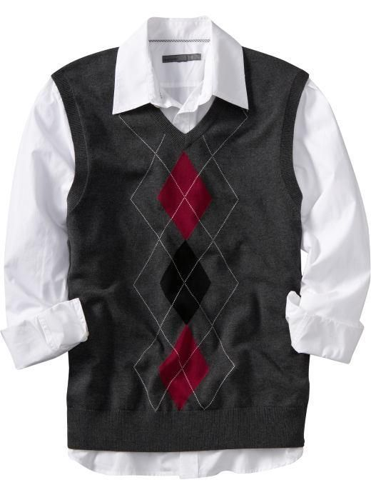 Men's Argyle Sweater Vest (With images) | Mens fashion sweaters .