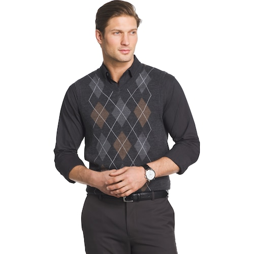 Men's Van Heusen Classic-Fit Argyle Sweater Ve