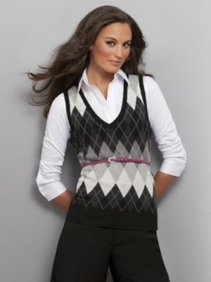 Best Womens Sweater Vest Looks in 2020 | Argyle sweater vest .