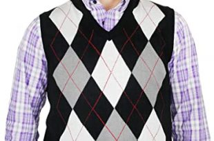 Blue Ocean Argyle Sweater Vest at Amazon Men's Clothing sto