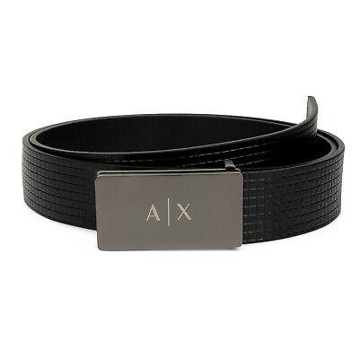 Armani Exchange Belt Men's Black Leather One Size Black Belt | NEW .