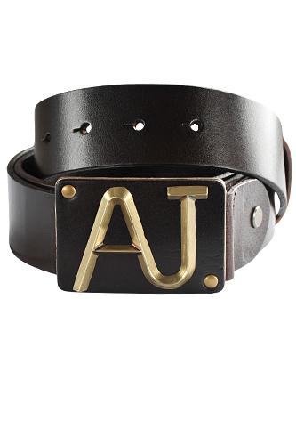 Mens Designer Clothes | ARMANI JEANS Men's Leather Belt #
