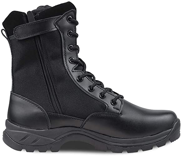 "Amazon.com: Ludey Men's 8"" Tactical Military Combat Boots Leather ."