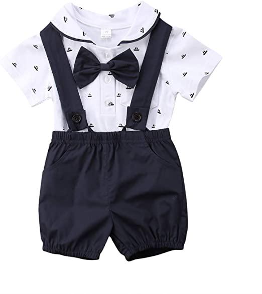 Amazon.com: Summer Newborn Kid Baby Boy Gentleman Outfit Clothes .