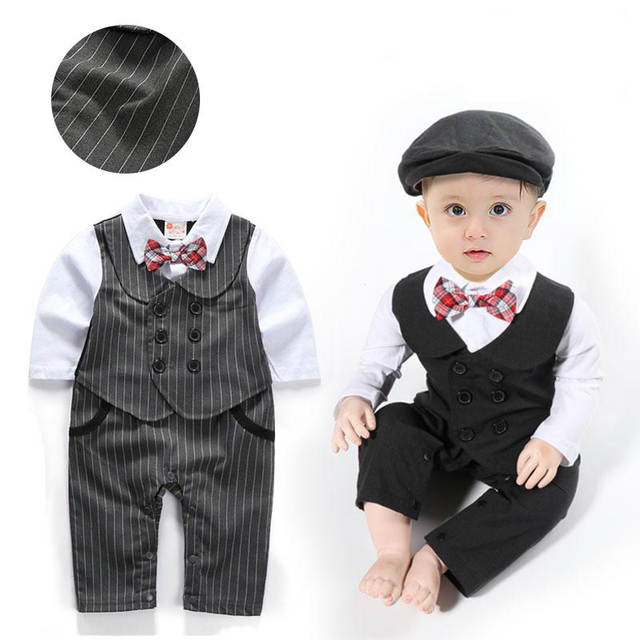 Baby Boy Clothing Toddlers Romper Infant Clothes Gentleman Design .