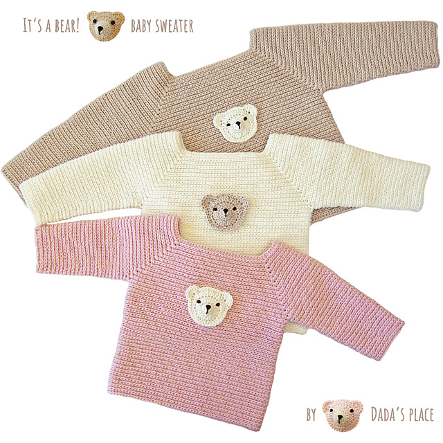 Crochet baby sweater patte