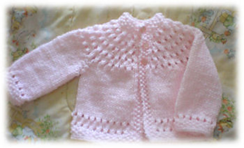 Ravelry: Pretty Baby Sweater pattern by Knitwits Heav