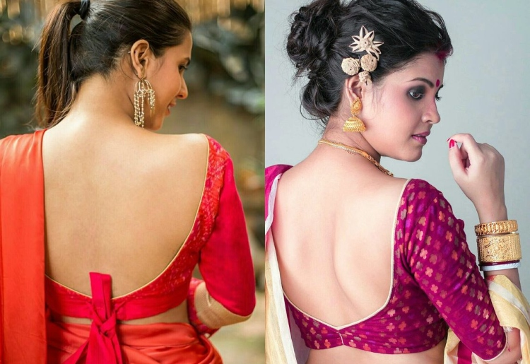 10 Backless Blouse Designs Catalogue to Rock the Par
