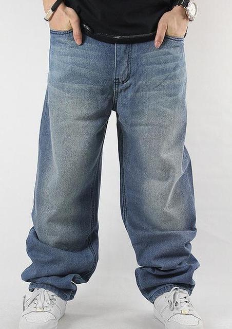 SHIERXI Man loose jeans hiphop skateboard jeans baggy pants denim .