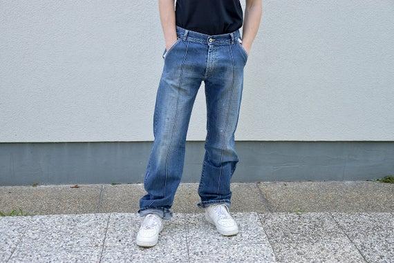 80's Men Straight Leg Baggy Jeans // Men's Jeans | Et