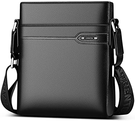 Amazon.com: LAORENTOU Men's Leather Shoulder Bag, Genuine Cow .