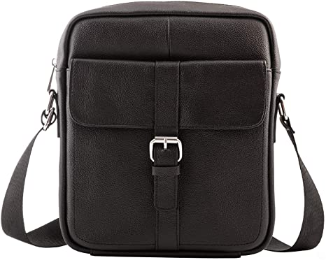 Amazon.com: Premium Leather Crossbody Bags for Men – Mens 9.7 .