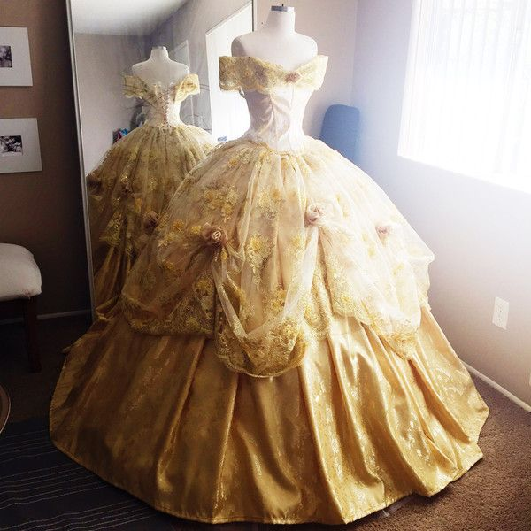 Disney Inspired Deluxe Belle Ball Gown from Beauty and the Beast .