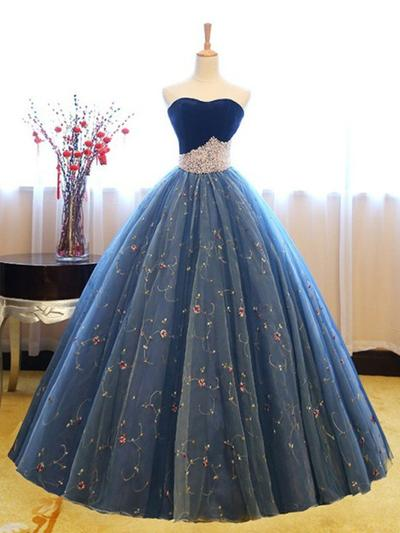 Tulle Princess Ball-Gown Floor-Length Prom Dresses #218647 - lalami