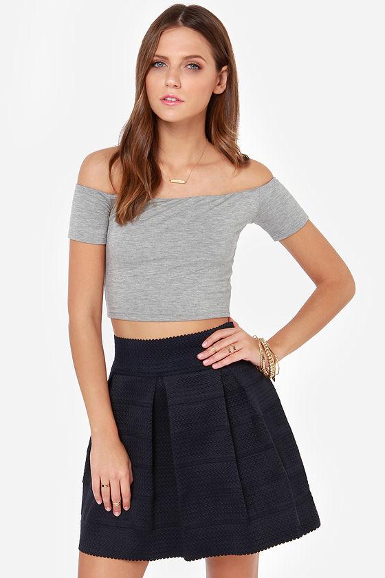 Cute Navy Blue Skirt - Bandage Skirt - Skater Skirt - $48.