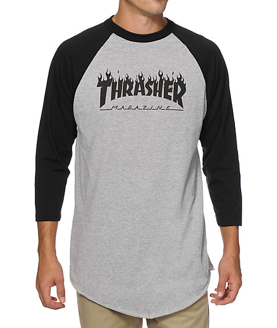 Thrasher Flame Baseball T-Shirt | Zumi