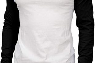 Knocker Men's Cotton Full Raglan Sleeve Baseball Tee Shirt at .