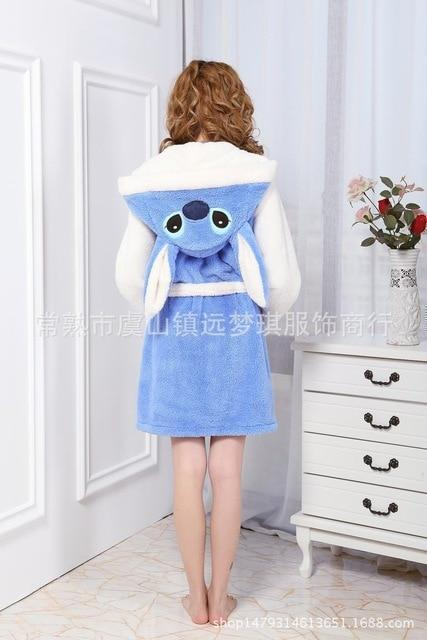 Lady Pajamas Bath Robe Sleepwear Women Coral Velvet Bathrobes .