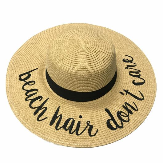 ST-2017 Beach Hair Don't Care Beach Hats – girliegirlorigina