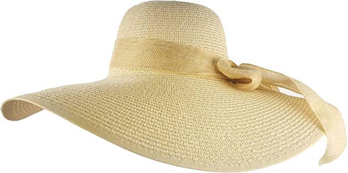 DRONGO Beach Hat for Women, Foldable Sun Hat Floppy Wide Brim .