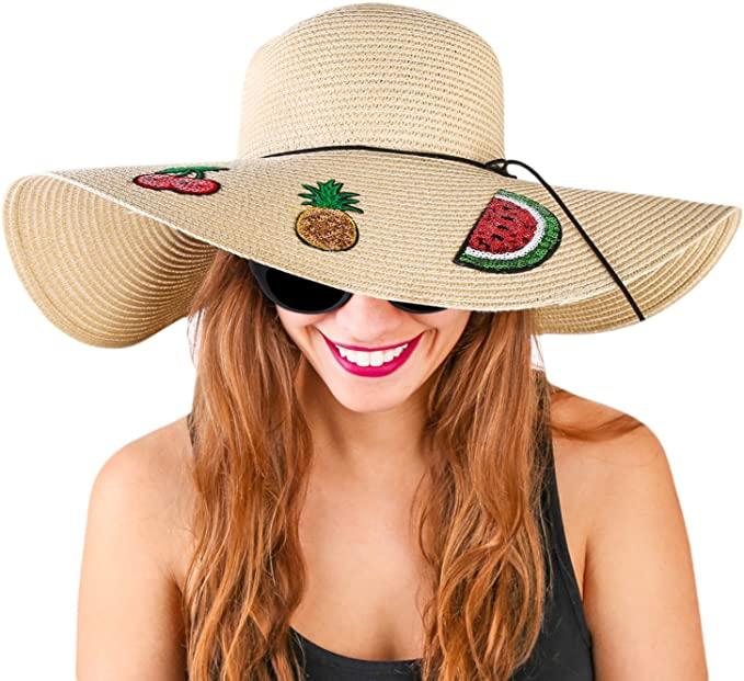 Foxy Grey Beach Hats for Women Floppy Beige One Size at Amazon .