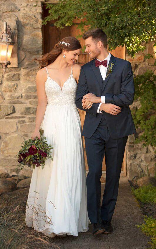Casual Beach Wedding Dress | Essense of Australia Wedding Gow