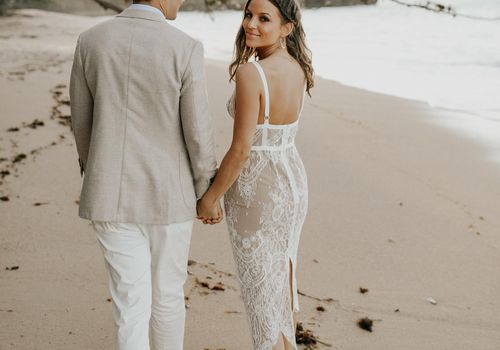 35 Beach Wedding Dresses Perfect for a Seaside Ceremo