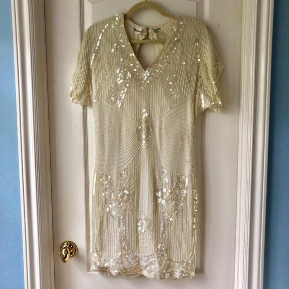 Neiman Marcus Dresses | Stunning 1920s Style Vintage Beaded Dress .