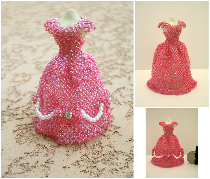 Miniature Beaded Dresses featured EYECANDY in Bea-Patterns.com .
