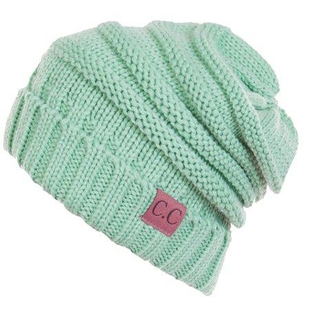 C.C - C.C Women's Thick Soft Knit Beanie Cap Hat - Walmart.com .