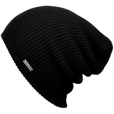 Mens Slouchy Beanie - The Forte - Black Beanie Hat - King and .