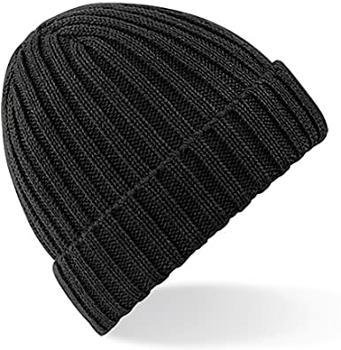 Amazon.com: Beechfield Unisex Winter Chunky Ribbed Beanie Hat (One .