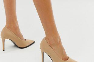 ASOS DESIGN Powerful high heeled pumps in beige | AS