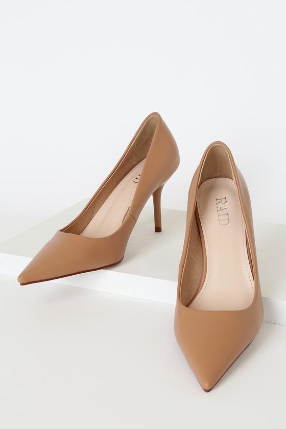 Raid Alice Beige Pumps - Pointed-Toe Pumps - Stiletto Pum