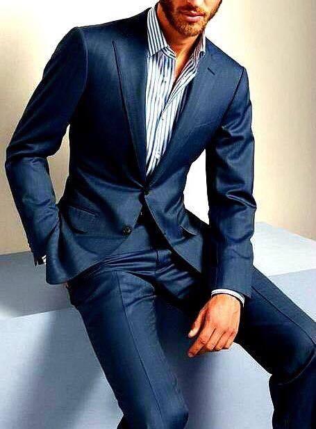 Dark Navy Bespoke Twill Business Suit - Michael Snell Bespo