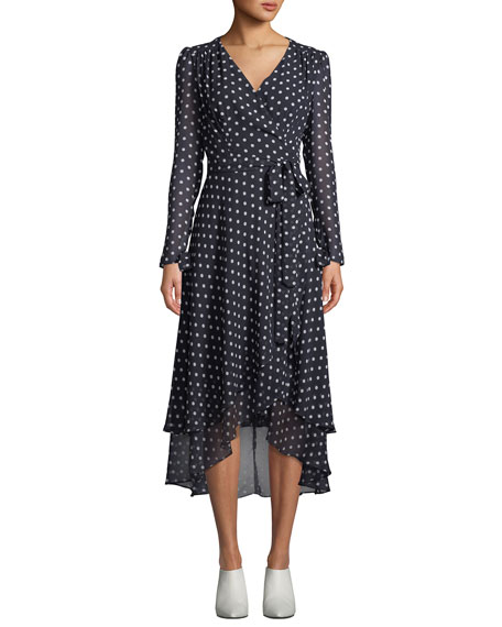 Betsey Johnson Polka-Dot Maxi Wrap Dre