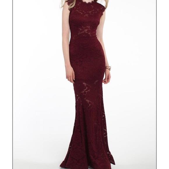 Betsy & Adam Dresses | Betsy Adam Lace Wine Dress | Poshma